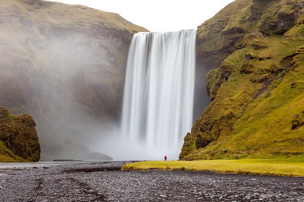 Under waterfall