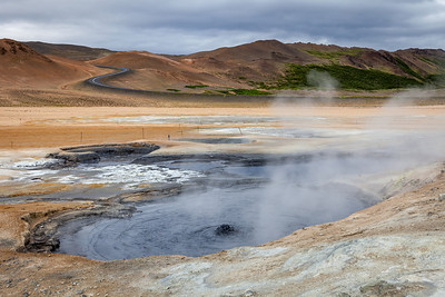 Hverarönd - active volcanic area near Myvatn lake, North Iceland