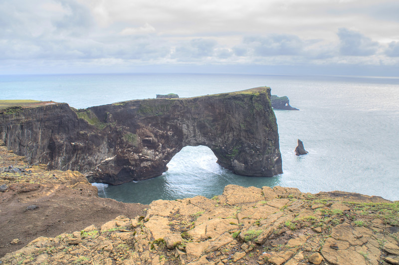 Dyrholaey Arch near Vík í Mýrdal, Iceland.
