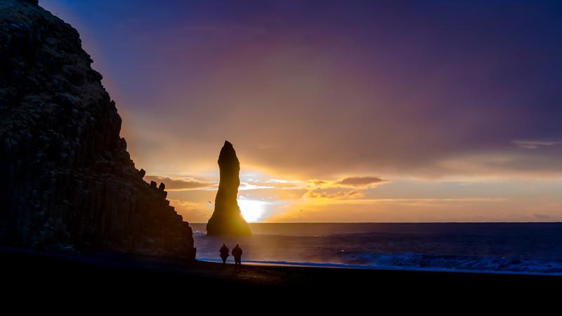 Reynisfjara Black Sand Beach, Vic, Southern Region, Iceland
