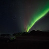 Northern lights on the way to Jökulsárlón