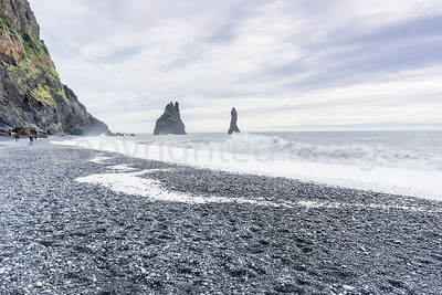 Black sand beach on the south coast near Vik