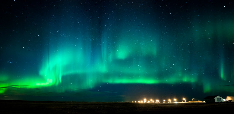 The Northern Lights are actually the result of collisions between gaseous particles in the Earth's atmosphere with charged particles released from the sun's atmosphere. Variations in colour are due to the type of gas particles that are colliding.