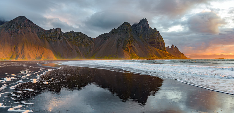Sunrise at Stokksnes, Vestrahorn