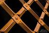 Closeup of iron dungeon gate