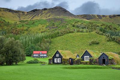 Traditional Icelandic houses.