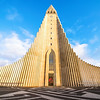 Hallgrimskirkja church is Reykjavik's main landmark and its tower can be seen from almost everywhere in the city.