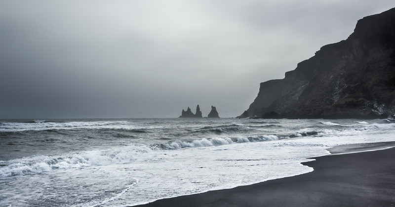 Vik, Iceland's southernmost village and home to beautiful black sand beaches and unique landscapes