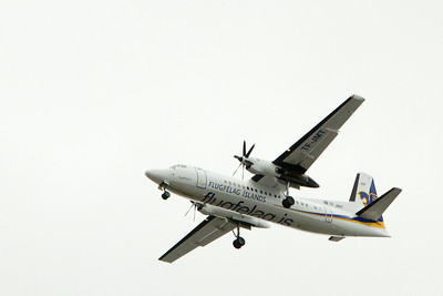 Low flying airplanes coming in and out of the city airport. - Copyright (c) 2014 Daniel Noe