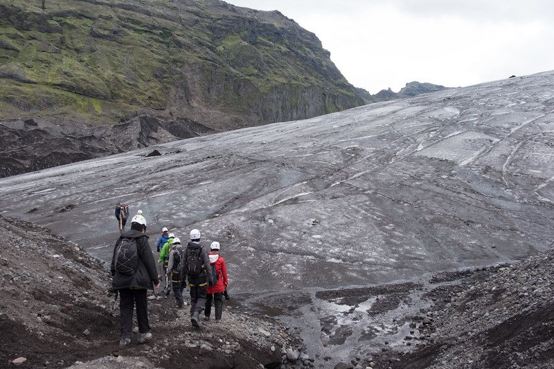 Zombie ice on Falljökull glacier