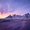 Vestrahorn mountain is a 454 meter high mountain overlooking the Atlantic Ocean and part of the headland.