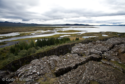 Thingvellir National Park is home of Iceland's ancient Viking parliament and listed as a UNESCO's World Heritage site. One can observe the the geological wonder of the mid-Atlantic ridge, the drifting apart of the continental plate of Europe and North America. September, 2009 © Cody T Williams.