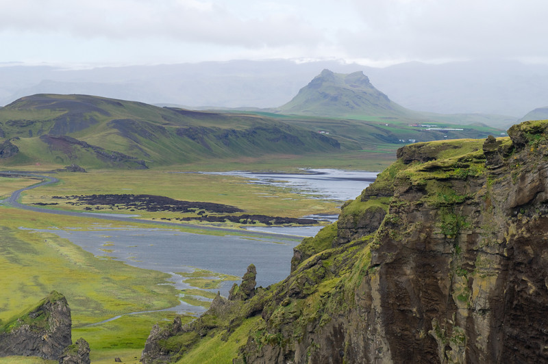 View from cliff near Vík í Mýrdal, Iceland.
