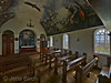 Interior from the little church at the small Icelandic island Flatey. <br /> 7 mm focal length HDR image.