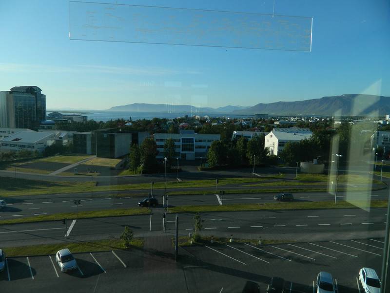 View of Reykjavik from the Hilton