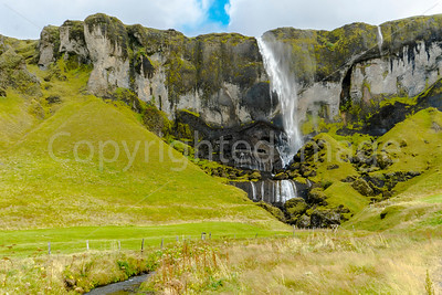 Windblown waterfall-Hamrafoss