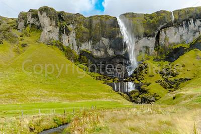 Windblown waterfall-Hamrafoss