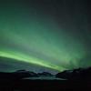 Northern lights above Skaftafellsjökull glacier