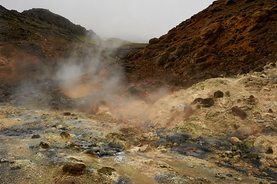 Geothermal pools with sulfur