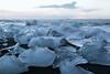 Glacial ice on the beach