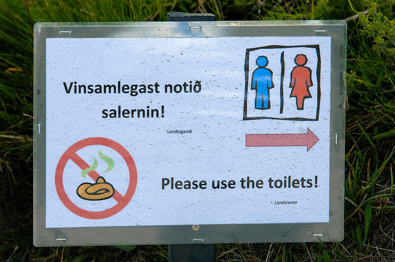 Please, use the toilets!