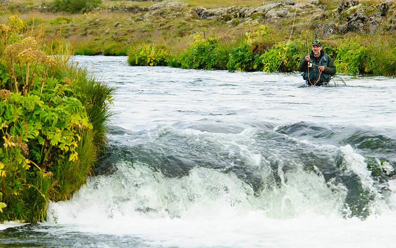 Fishing at Laxá river