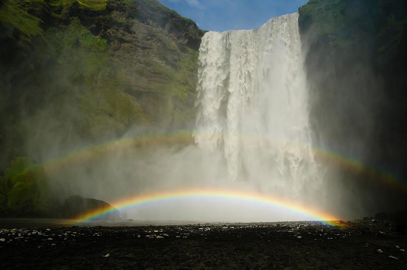 Skógafoss/ Doble arco-iris en Skógafoss