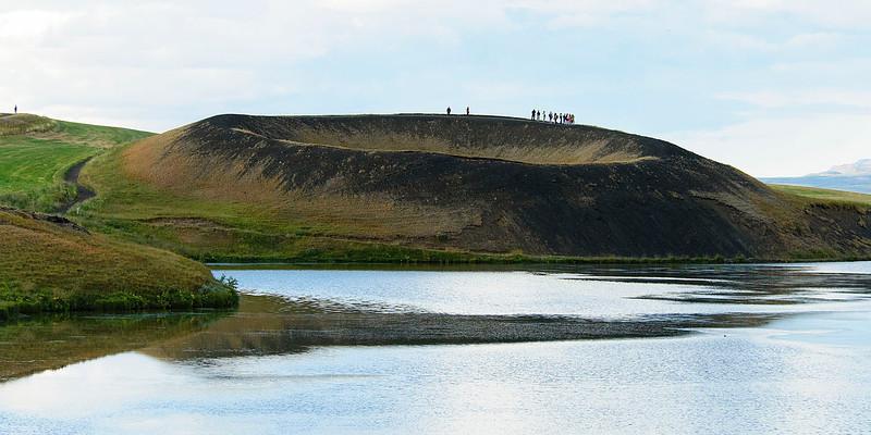 Skútustaðir pseudo-craters and Mývatn lake