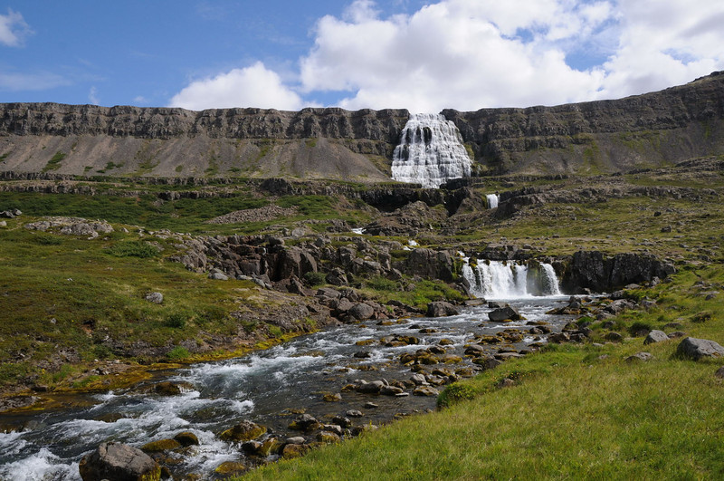 Baejerfoss waterfalls at Dynjandi, Iceland.
