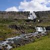 Baejerfoss waterfalls at Dynjandi, Iceland.