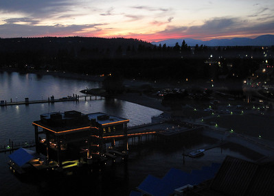 Sunset over Lake Coeur D'Alene.