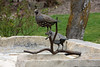 <b>Quail</b> - This bronze sculpture was created by Dirk Anderson in 2004. It was donated by William Emery, Bonnie Serkin, and Shawna Gledhill in memory of Peggy Gledhill.