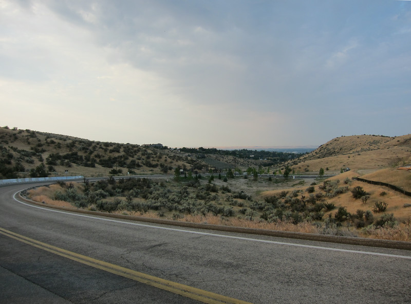 We rode up the long, twisting hill to the Bogus Basin ski area.