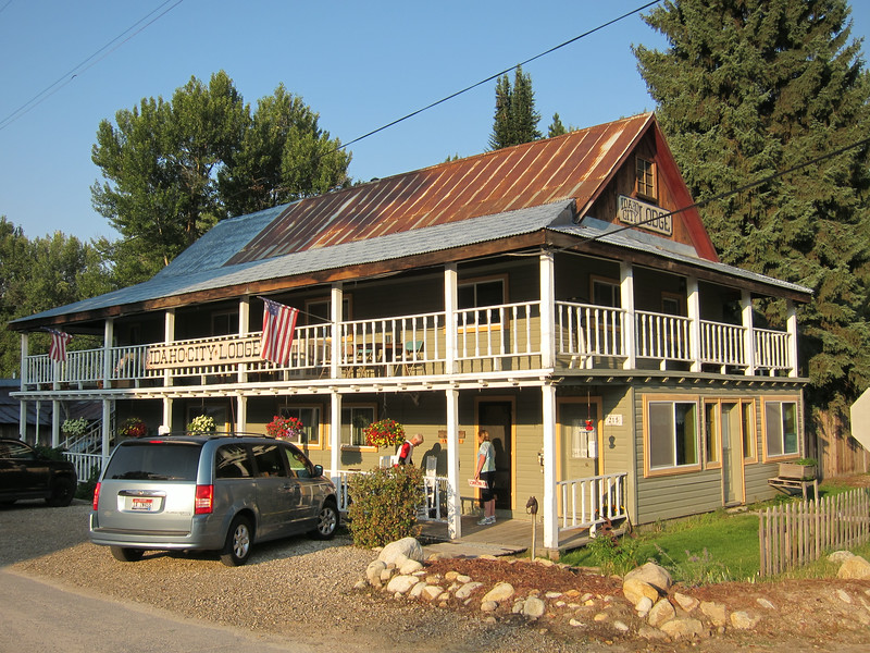 We stayed in this comfortable lodge in Idaho City.