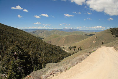 This is the scene Captain Lewis saw in 1805 as he crossed the Continental Divide at Lemhi Pass. This is the border between ID and MT.