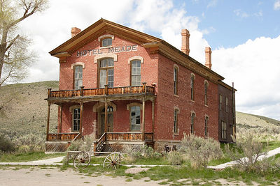 Bannack, the remains of an old mining town and now a state park, was once the capitol of Montana Territory. The Hotel Meade was originally built in 1875 as a Courthouse.