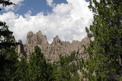 Typical Black Hills rock formation in Custer SP, SD.