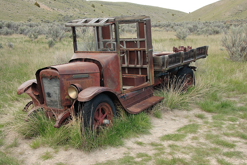 Old truck at Bannack SP, a ghost town in SW MT.