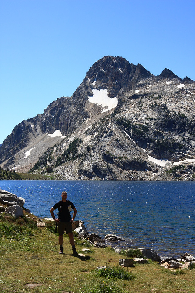 Sawtooth Lake with Mt. Reagan in the background