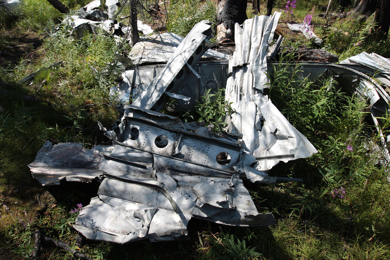 """Near McCall, Idaho you can hike to a military plane crash site at Loon Lake.  All on-board survived the crash<br /> <a href=""""http://www.aviationarchaeology.com/B23np.htm"""">http://www.aviationarchaeology.com/B23np.htm</a>"""