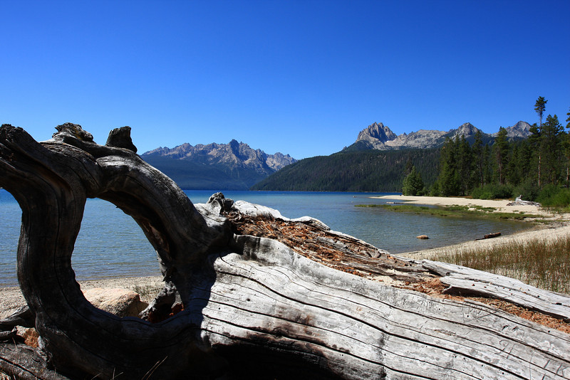 Redfish Lake, ID.  Rustic lakeside resort with many campgrounds.