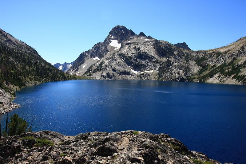 Mt. Reagan and Sawtooth Lake, Sawtooth Range, near Stanley, ID