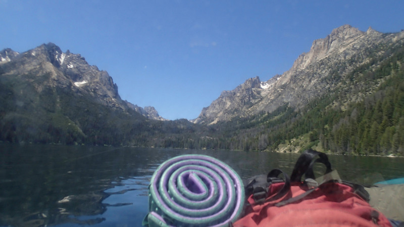 On a boat headed for the inlet end of Redfish Lake to start our hike up to Bench Lake.
