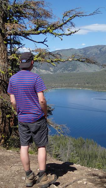 Looking down at Redfish Lake, Idaho