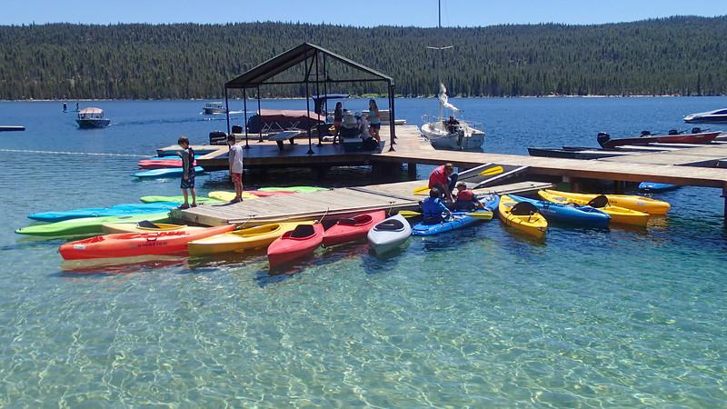 Bahamas? Nope, just Redfish Lake Marina, Idaho
