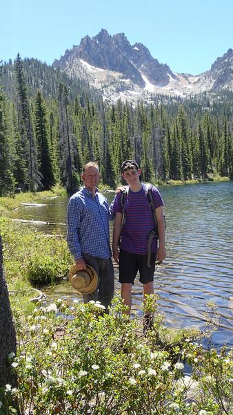 Father and son shot, Bench Lake, Idaho (above Redfish Lake)