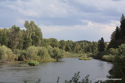 The Snake River - Channel by Falls Campground