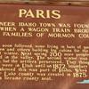 Signage on Town  - Paris, ID  9-7-05