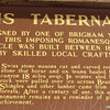 Signage About Paris Tabernacle  - Paris, ID  9-7-05