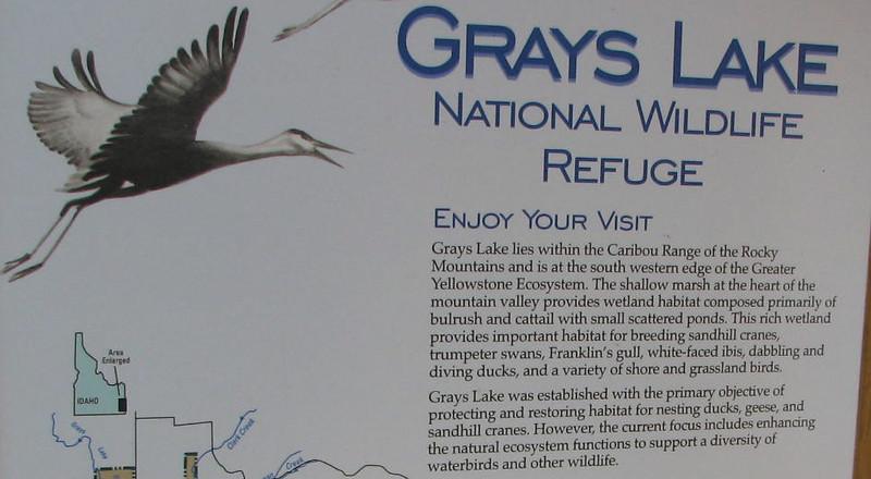 Grays Lake NWR Signage